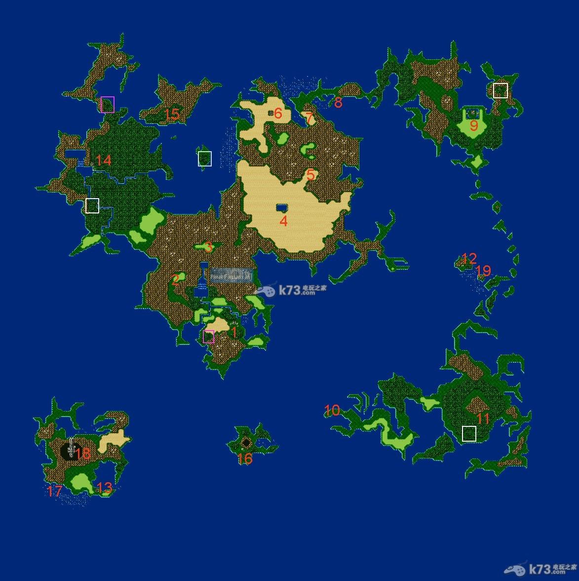 《最终幻想4》世界地图